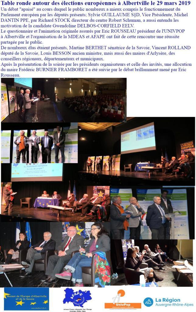 Albertville 29.3.19 Table ronde européenne